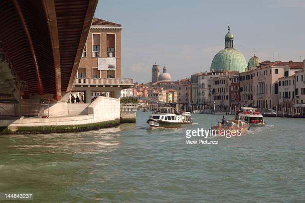 Constitution Bridge Grand Canal VeniceItaly Architect Santiago Calatrava Constitution Bridge Canal Grande Santiago Calatrava Venice Italy Detail From...