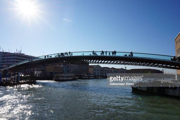 Constitution Bridge over the Canal Grande, Venice, Italy