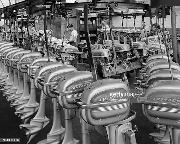Constructing Outboard Motors at the Evinrude Plant