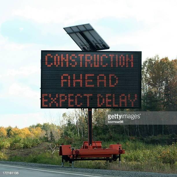 Panneau avertisseur de chantier de Construction