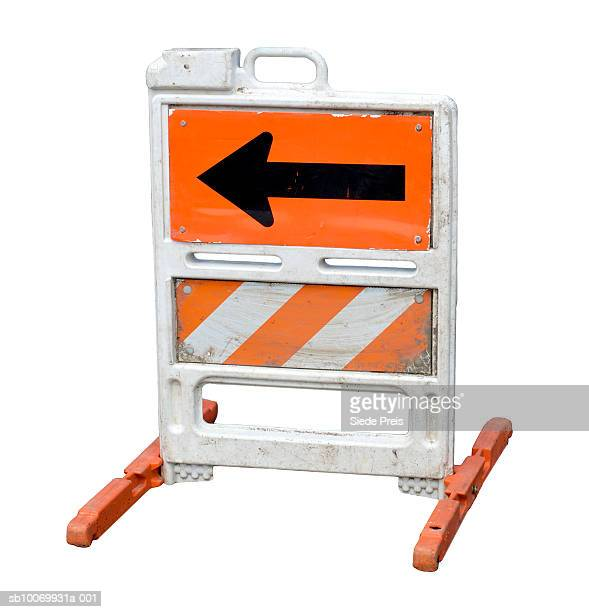 Construction Barrier on white background