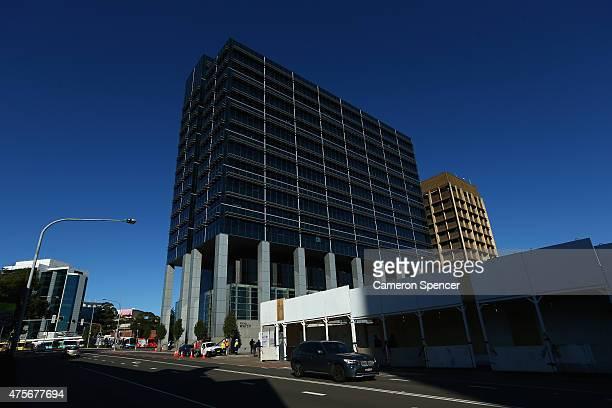 Construction begins next door to the Sydney Water office in Smith Street in central Parramatta on June 3 2015 in Sydney Australia Parramatta is about...