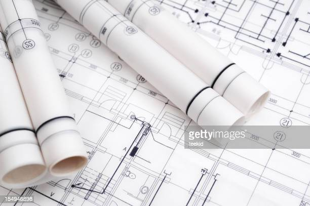 Construction Blueprint-Architecture Industry Paperwork