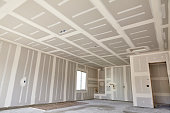 Construction building industry new home construction interior drywall tape and finish details