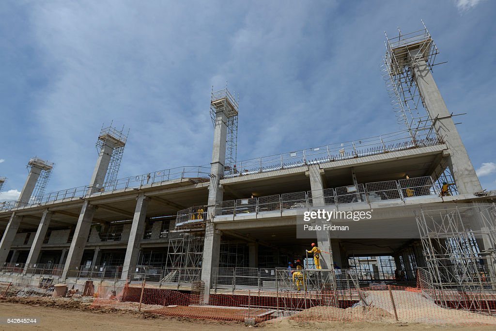 Construction continues at Terminals 3 and 4 of the International Airport Franco Montoro in Guarulhos Brazil on Monday October 21st 2013