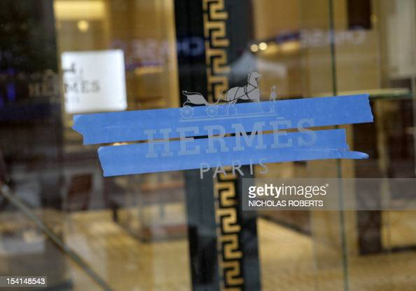 Construction continues at the Hermes store across the street from the New York Stock Exchange at 15 Broad Street in the Financial District in New...