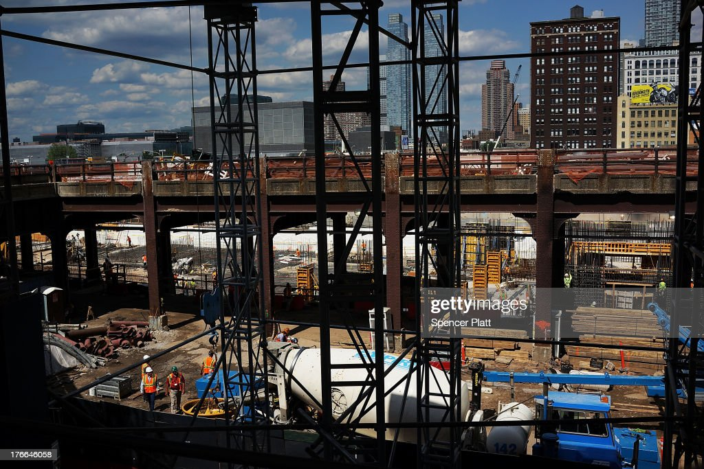 Construction continues at the Hudson Yards Redevelopment Project, which is developing Manhattan's far West Side along the Hudson River in New York City on August 16, 2013 in New York City. The plan envisions thousands of new residential, hotel, park and office space in an area of the Manhattan that has historically been neglected by real estate developers. A new report by the office of Brooklyn Democrat and housing expert Brad Lander, a City Councilman, found that less than 2 percent of all apartments developed in the city since 2005 were deemed affordable housing. New York City Mayor Michael Bloomberg launched 'Inclusionary Housing Program' eight years ago in an attempt to get developers to to build larger and taller as long as they also set aside a portion of their apartments for low- to middle-income tenants.
