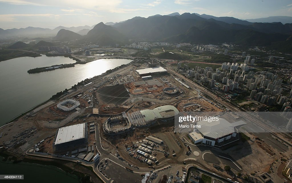 Construction Continues At The Olympic Park For Rio 2016 Games In Barra Da