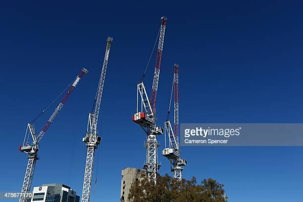 Construction continues on Meriton's 'Altitude Parramatta' apartments in Parramatta on June 3 2015 in Sydney Australia Parramatta is about to become...