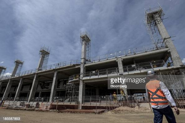 Construction continues on Terminals 3 and 4 at the Sao Paulo/Guarulhos Governor Andre Franco Montoro International Airport in Guarulhos Brazil on...