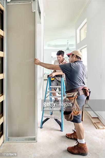 "Construction: Placoplâtre ""installation"