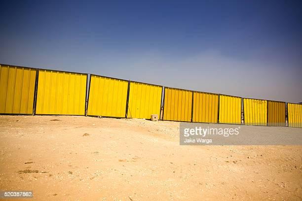 Construction fence, Giza, Egypt