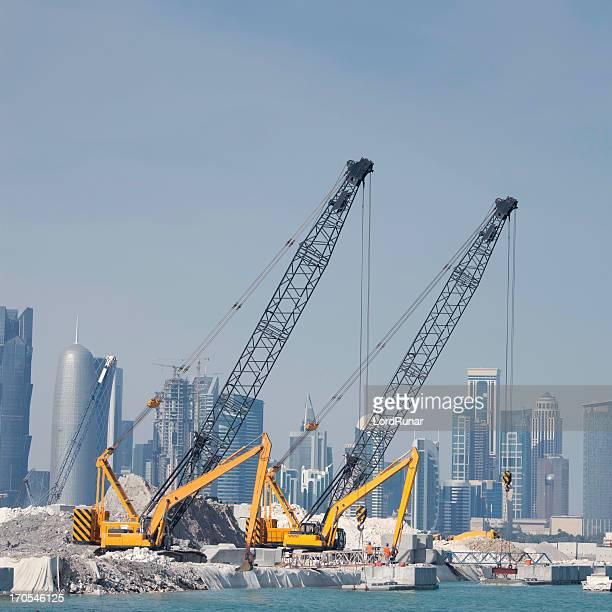 Bauarbeiten in Doha