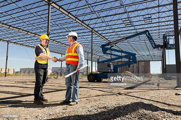 Construction Industry Hände schütteln