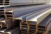 Photo of new iron girders.