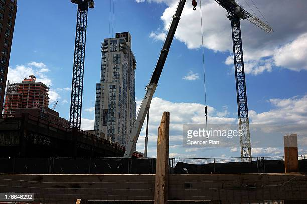 Construction is viewed at the Hudson Yards Redevelopment Project which is developing Manhattan's far West Side along the Hudson River in New York...