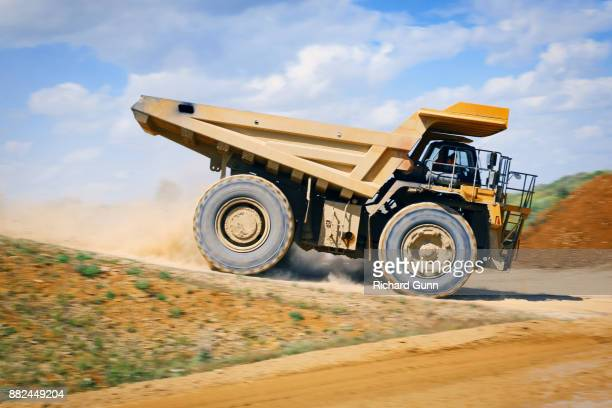 Construction - Komatsu HD785 off-road heavy truck at work