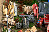 Various materials for the construction site ready for use