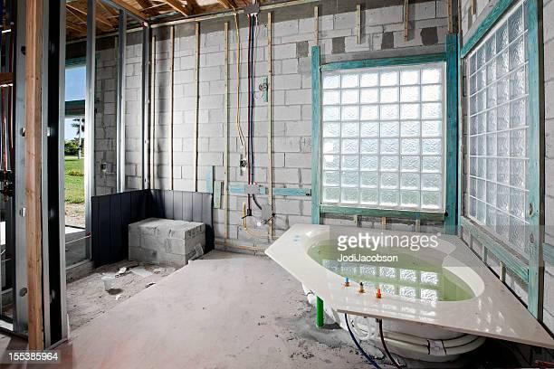 Construction: New Bathroom installation jacuzzi