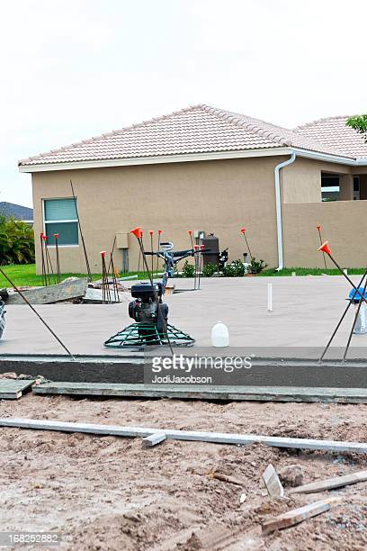 Construction: New Cement foundation slab for home