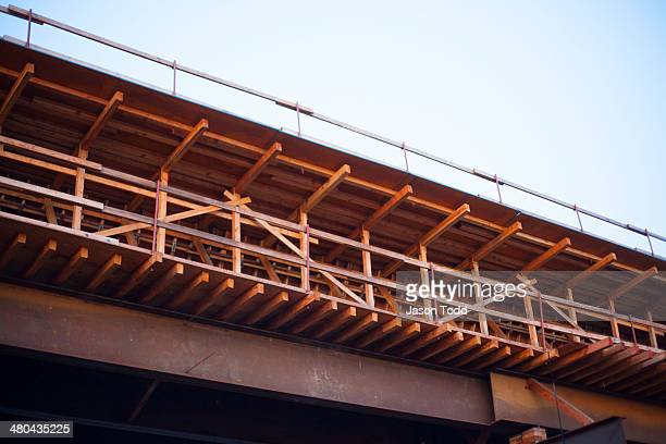 Construction of a freeway overpass