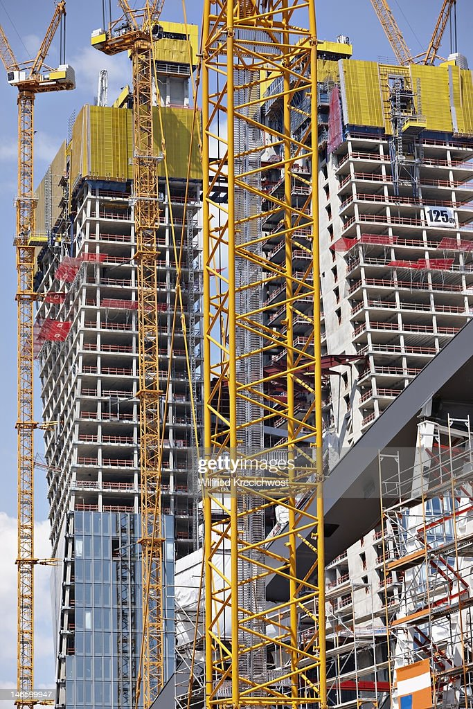 Construction of a high rise building : Stock Photo