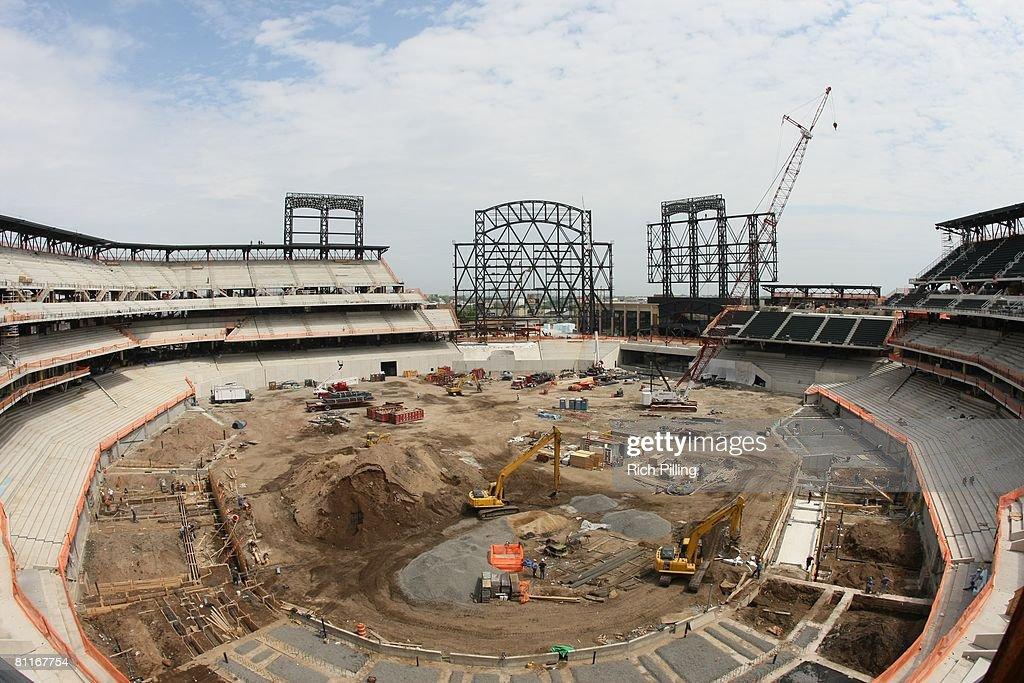 Construction of Citi Field new home of the New York Mets for the 2009 season in Flushing New York on May 14 2008