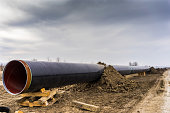 construction of gas pipeline  in north Greece. The pipeline starts from the Caspian sea and reaches the coast of southern Italy