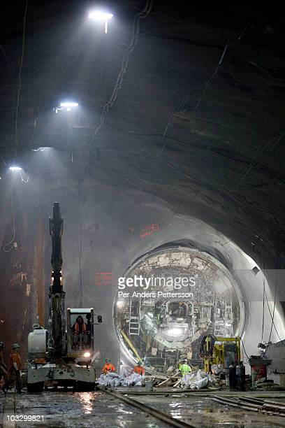 Construction of subway tunnel