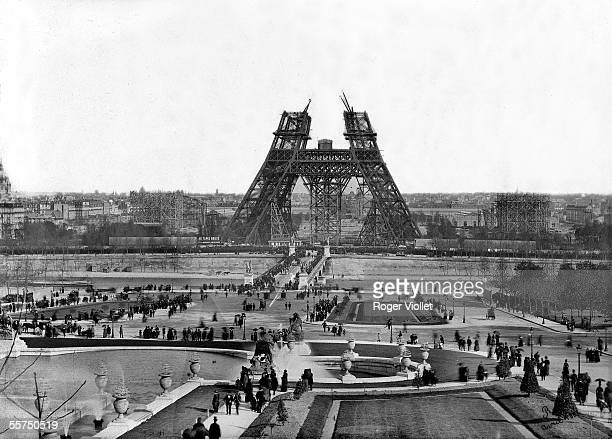 Construction of the Eiffel Tower Paris for the World Fair of 1889 April 15 1888 RV30353