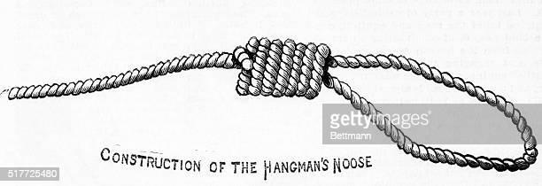 Construction of the hangman's noose Woodcut 1882 BPA2# 902