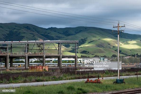 Construction of the new BART station Warm Springs/South Fremont is seen April 25 2014 in Fremont CA The extension will provide better mass...