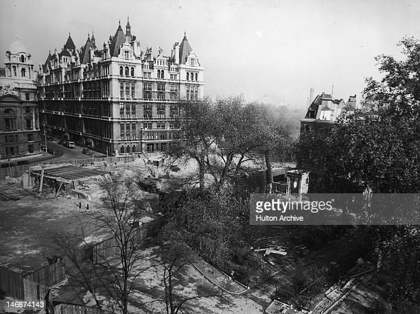 Construction of the New Government Offices building in progress in Whitehall Gardens London circa 1949