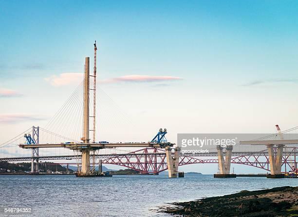 Bauarbeiten auf der Queensferry Überqueren Sie den Fluss Firth der Forth