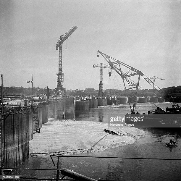 Construction Of The Tidal Power Station On The River Rance In Brittany France on July 22 1963
