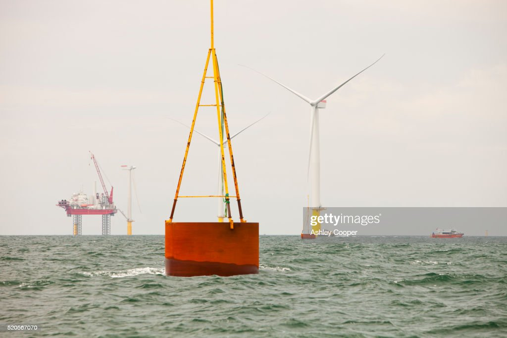 Construction of the Walney offshore wind farm, Cumbria, UK