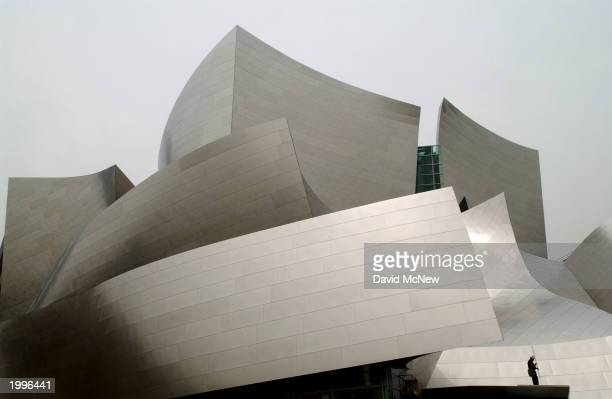 Construction of the Walt Disney Concert Hall continues May 13 2003 in Los Angeles California The 2380seat concert hall designed by Frank Gehry will...