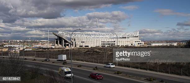 Construction of Wanda Metropolitano Stadium in Madrid continues work should end for the next season 2017 2018 for Atletico de Madrid team Madrid...