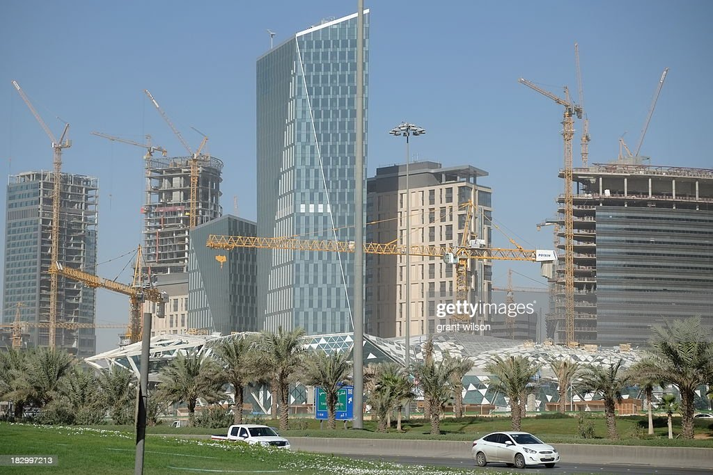 CONTENT] Construction on the King Abdullah Financial District in the heard of Riyadh, the Capital of Saudi Arabia.