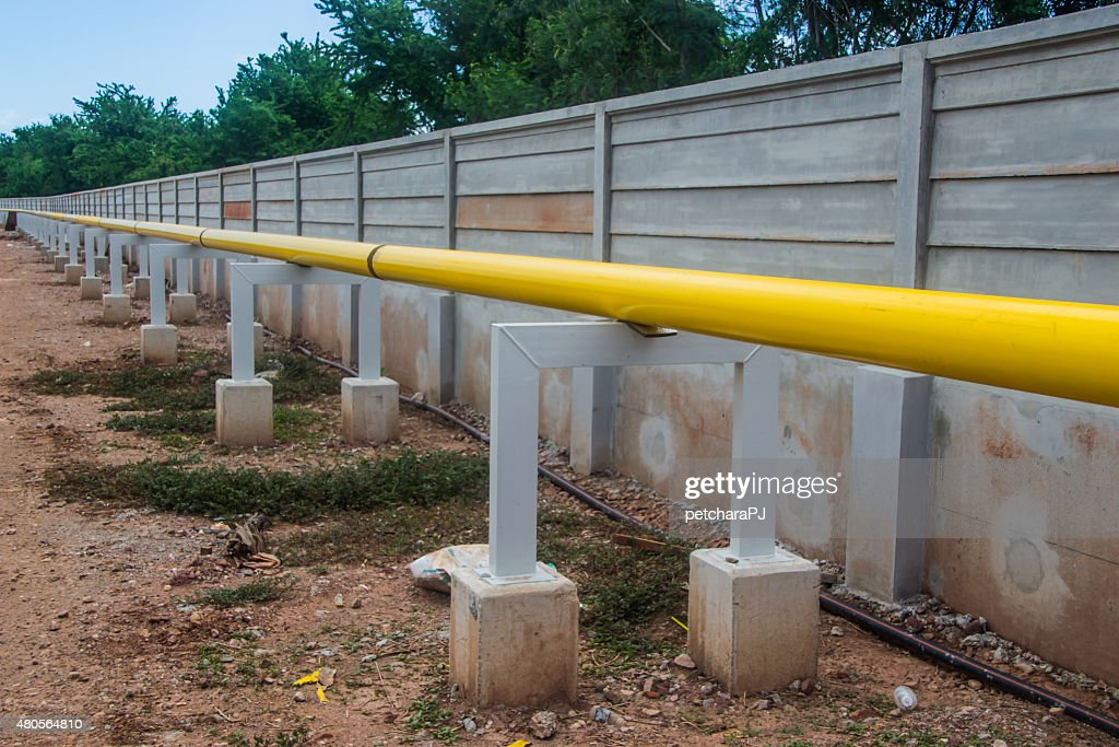 construction pipeline on support : Stock Photo