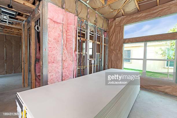 Konstruktion: Vorbereitung für die Installation drywall
