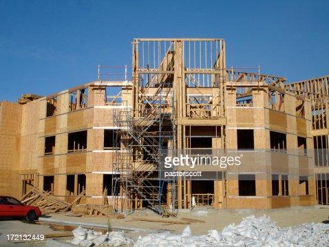 Apartment Building Construction construction site apartment building san fernando valley