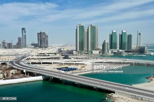 Construction site development in Abu Dhabi desert
