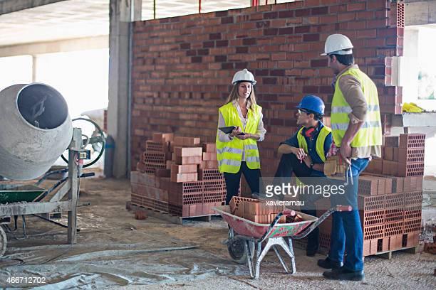 Construction site discussion