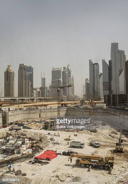 Construction site downtown Dubai.