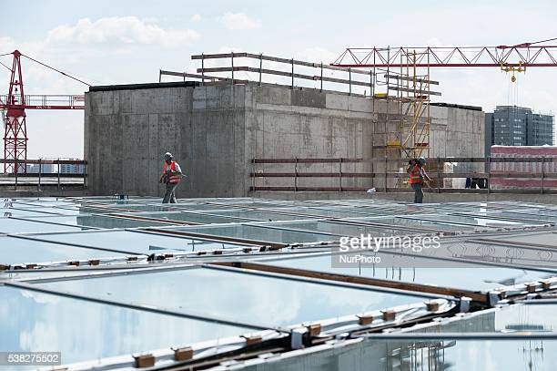 Construction site of Berlin's City Palace in Berlin Germany on 3 June 2016