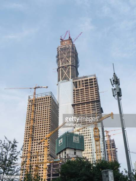 Construction site of CITIC Tower at downtown district of Beijing,China