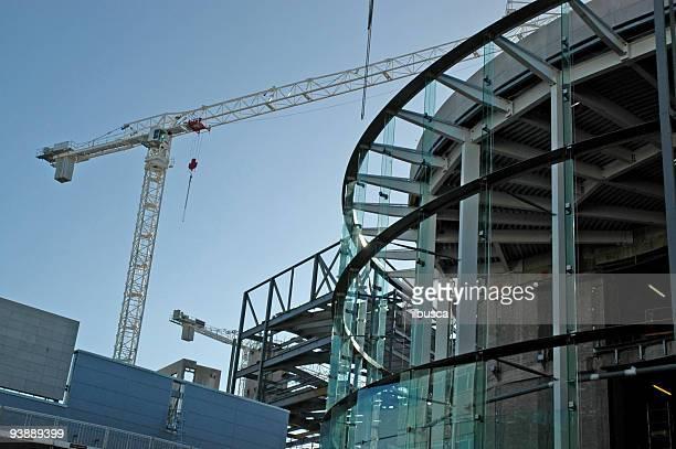 Chantier de Construction de bâtiments modernes et les gratte-ciel