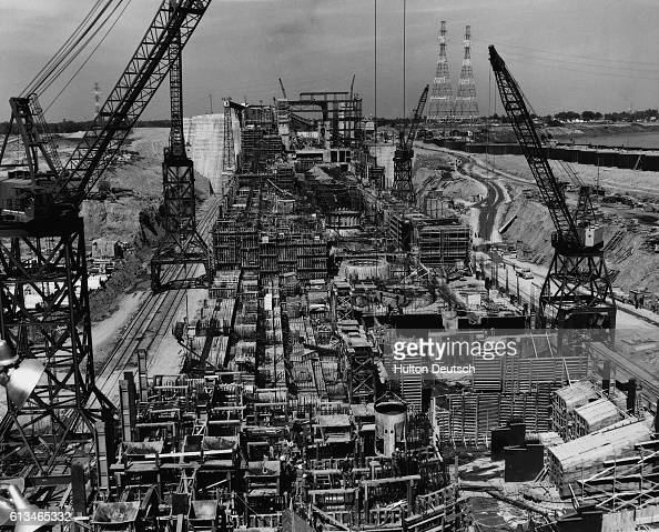 Construction site of the massive St Lawrence Seaway project