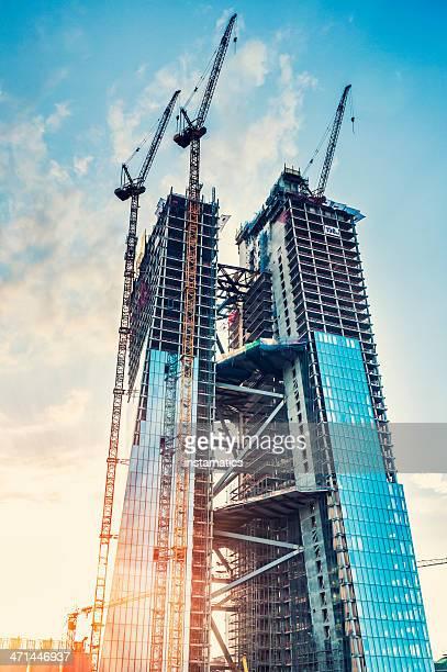 Baustelle des neuen Europäischen Zentralbank Gebäude